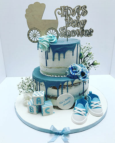 Boy Baby Shower Naked Cake
