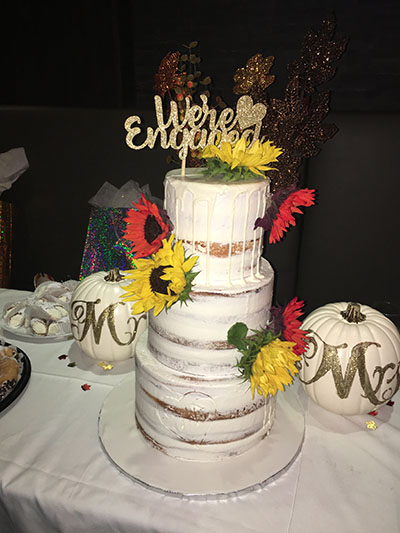 Harvest Themed Naked Cake
