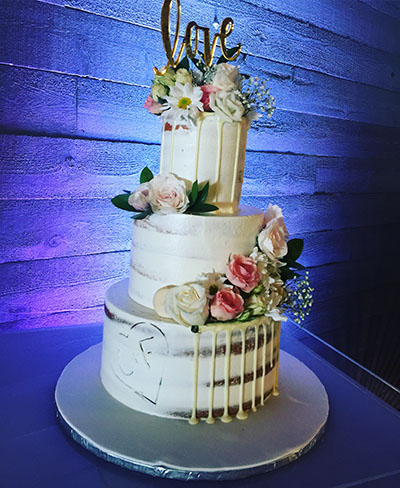White Chocolate Drip Naked Cake