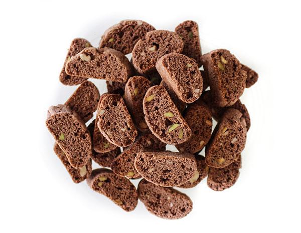 Chocolate Pistachio Mini Biscotti