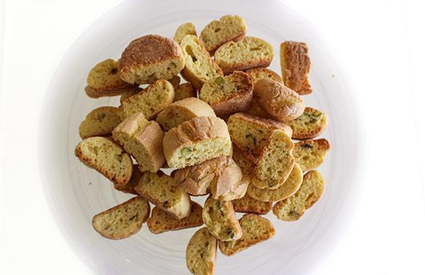 Lemon Pistachio Mini Biscotti