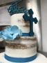Boy Baptism Naked Cake
