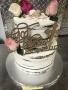 Floral Girl Baptism Naked Cake